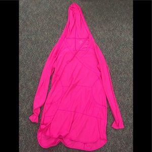 ATHLETA Wick-it Wader Cover Up Dress hood